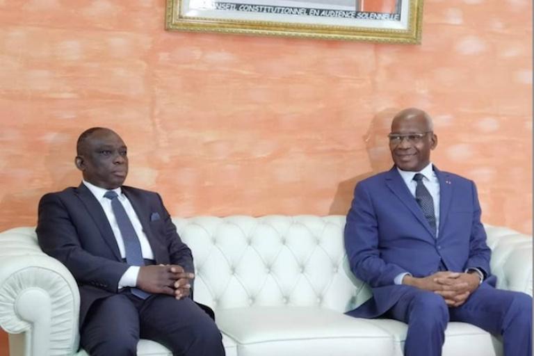 Mamadou Koné reçoit Kouadio Konan Bertin, le jour de sa « mort »