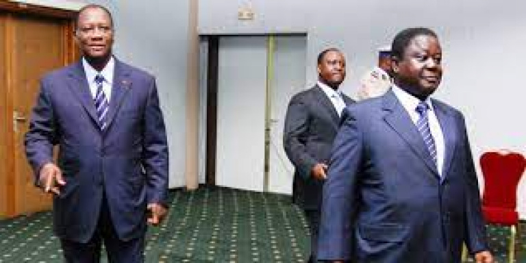 Alassane Ouattara et Henri Konan Bédié, invité à se parler franchement