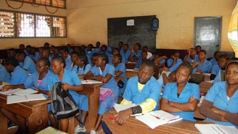 Une vue d'élèves au Cameroun