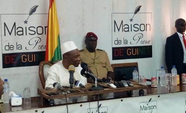 Le président de la Guinée à la maison de la presse