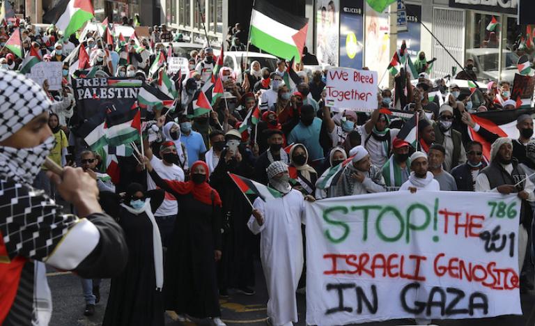 Manifestants au Maroc : « La cause palestinienne est pour nous une cause nationale »