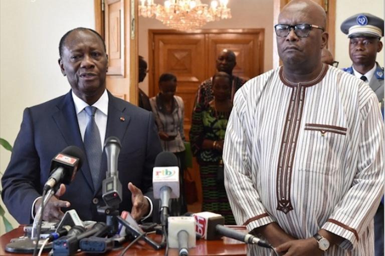 Attaque de Solhan : Ouattara, Issoufou et Le Drian solidaires à Roch Kaboré