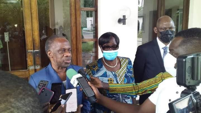 Sébastien Dano Djédjé et une délégation du FPI ont porté la nouvelle du retour de Gbagbo, ce vendredi, à Bédié
