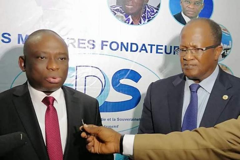 Le ministre KKB et Armand Ouégnin de EDS
