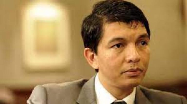 Le président du Madagascar Andry Rajoelina