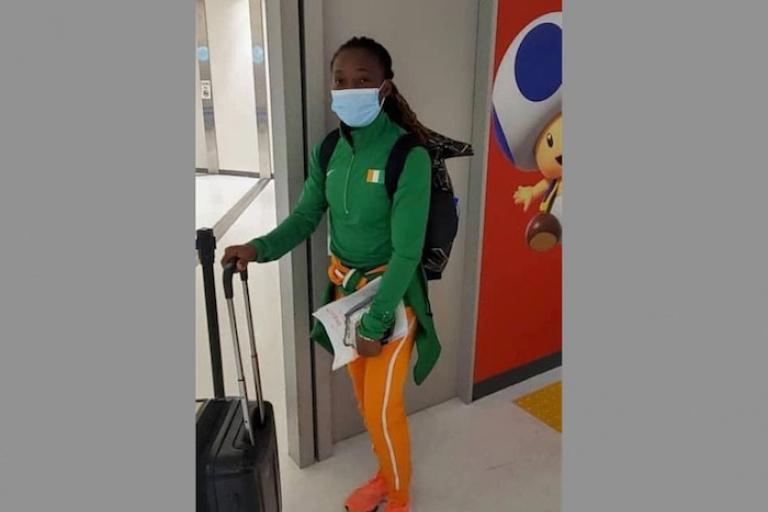 Marie-Josée Ta Lou, porte-drapeau ivoirien, arrive confiante à Tokyo