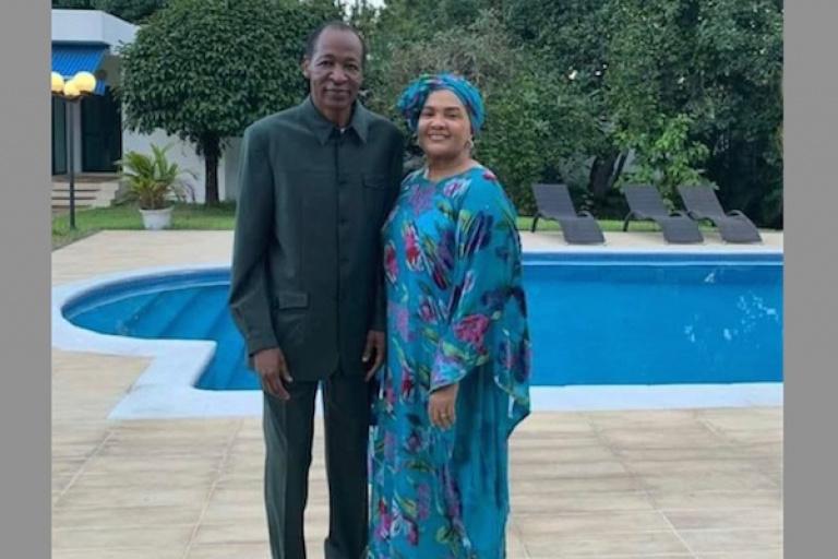Blaise Compaoré et son épouse