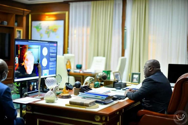 échange virtuel entre Félix-Antoine Tshisekedi Tshilombo et Bill Gates