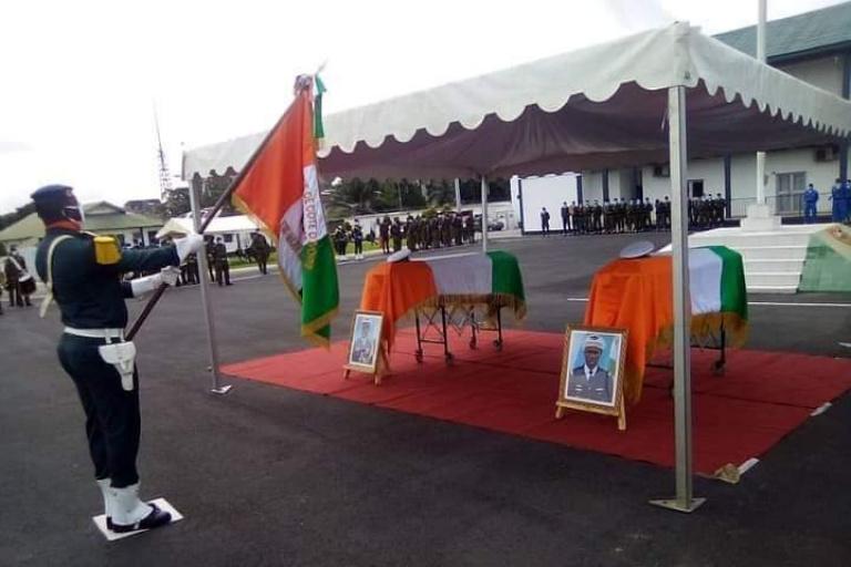 Hommage des Armées et de la Nation aux valeureux militaires décédés dans le crash du MI 24 de l'Armée Ivoirienne