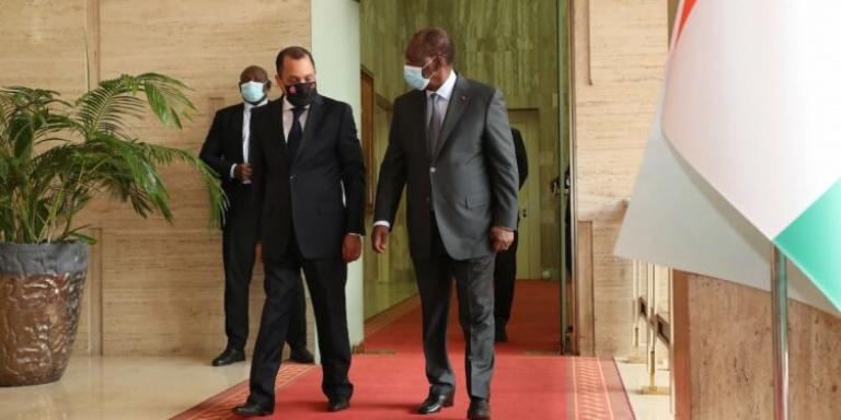 Le président Alassane Ouattara a reçu en audience, le président tunisien
