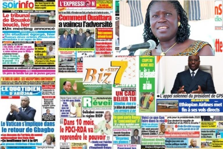 Titrologie : « De grosses têtes vont rejoindre Simone Gbagbo »