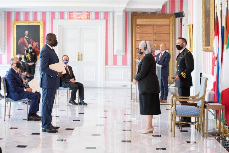 Son Excellence Monsieur Bafétigué Ouattara a présenté ses lettres de créances, le jeudi 9 septembre 2021
