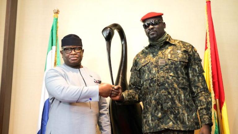 Guinée : Maada Dio, chef d'État sierraleonais, en visite à Conakry