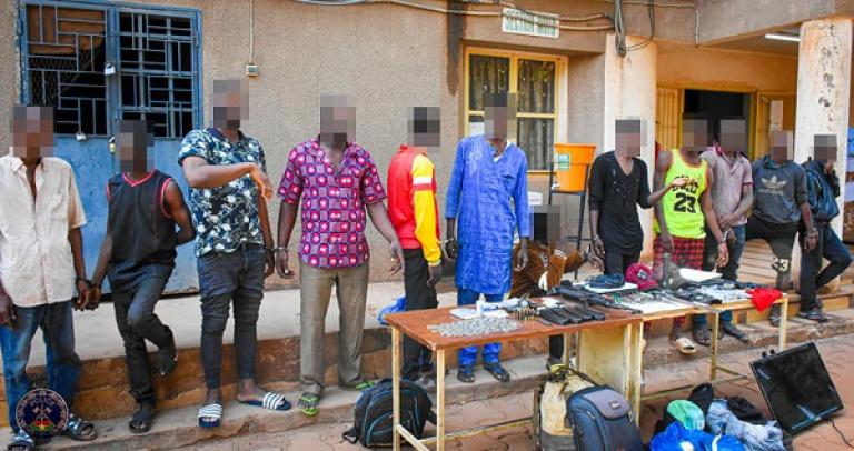 Ouaga : La police burkinabè démantèle des réseaux de bandits