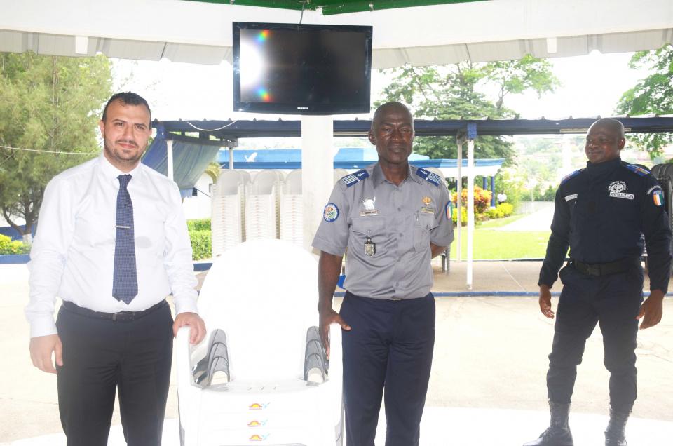 L'école de Gendarmerie de Cocody a reçu un important don