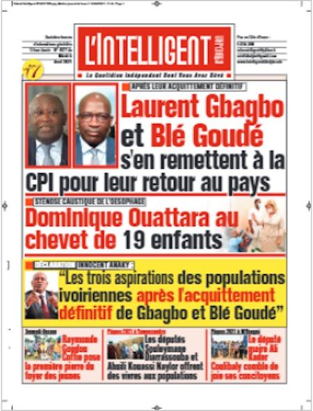L'Intelligent d'Abidjan, Titrologie du 6 avril 2021