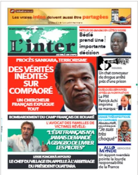 L'Inter, Titrologie du 20 avril 2021