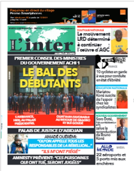 Inter, Titrologie du 8 avril 2021 - Titrologue