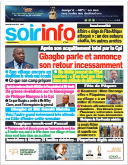 Soir Info, Titrologie du 6 avril 2021