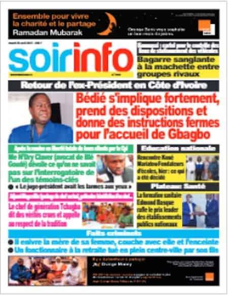 Soir Info, Titrologie du 20 avril 2021