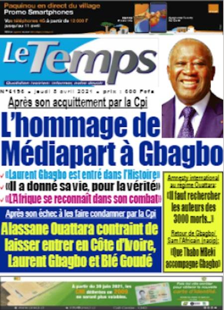 Le Temps, Titrologie du 8 avril - Titrologue
