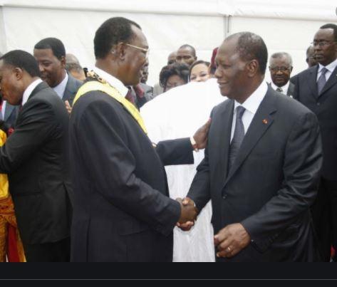 Mort d'Idriss Déby : Ouattara «salue la mémoire d'un grand patriote»